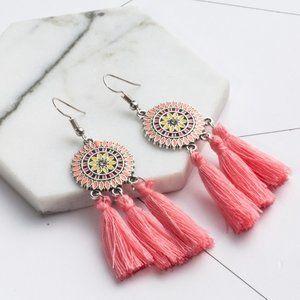 3/$20 New Pink Boho Tassel Earrings